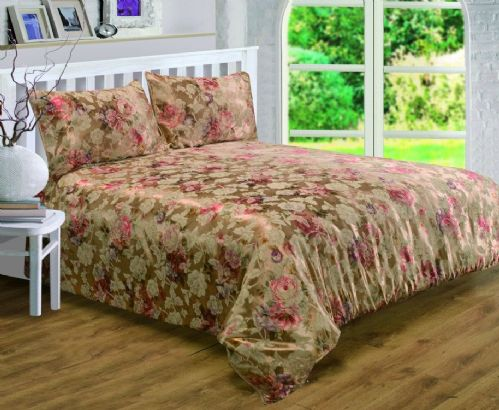 GOLD COLOUR BRONZE FLORAL RICH JACQUARD DUVET COVER LUXURY BEAUTIFUL GLAMOUR BEDDING